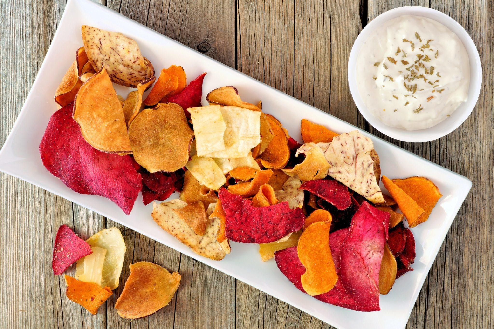 Как сделать чипсы из овощей и фруктов