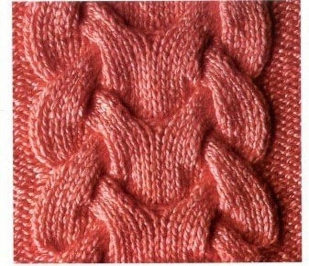 Вязание спицами королевская коса по косой 462