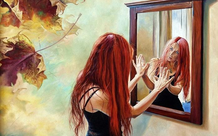 Джейн этот как я вижу в глади стекла себя привлекательный дизайн
