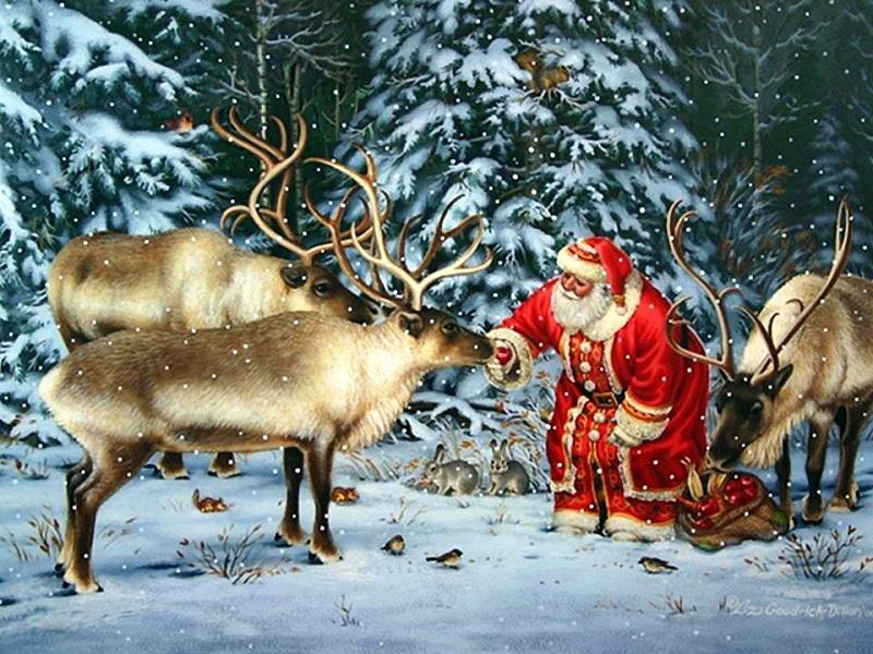 Рождественская музыкальная открытка с оленями, днем рождения