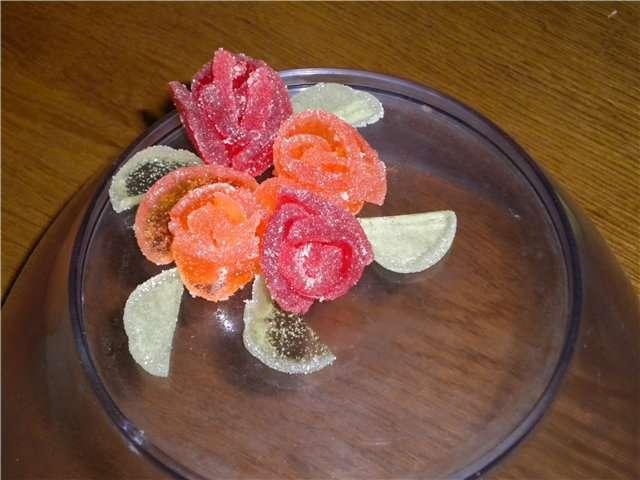 розы из мармелада своими руками фото даже